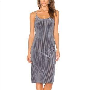 J.O.A. X Revolve Slip dress in Slate